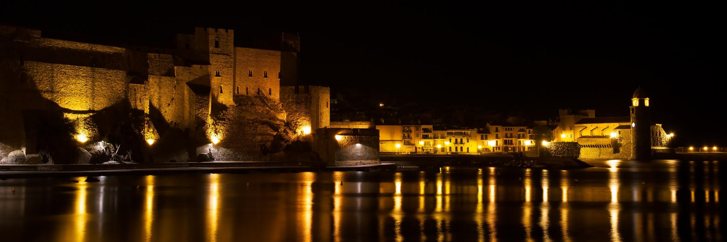 Nuit noire à Collioure