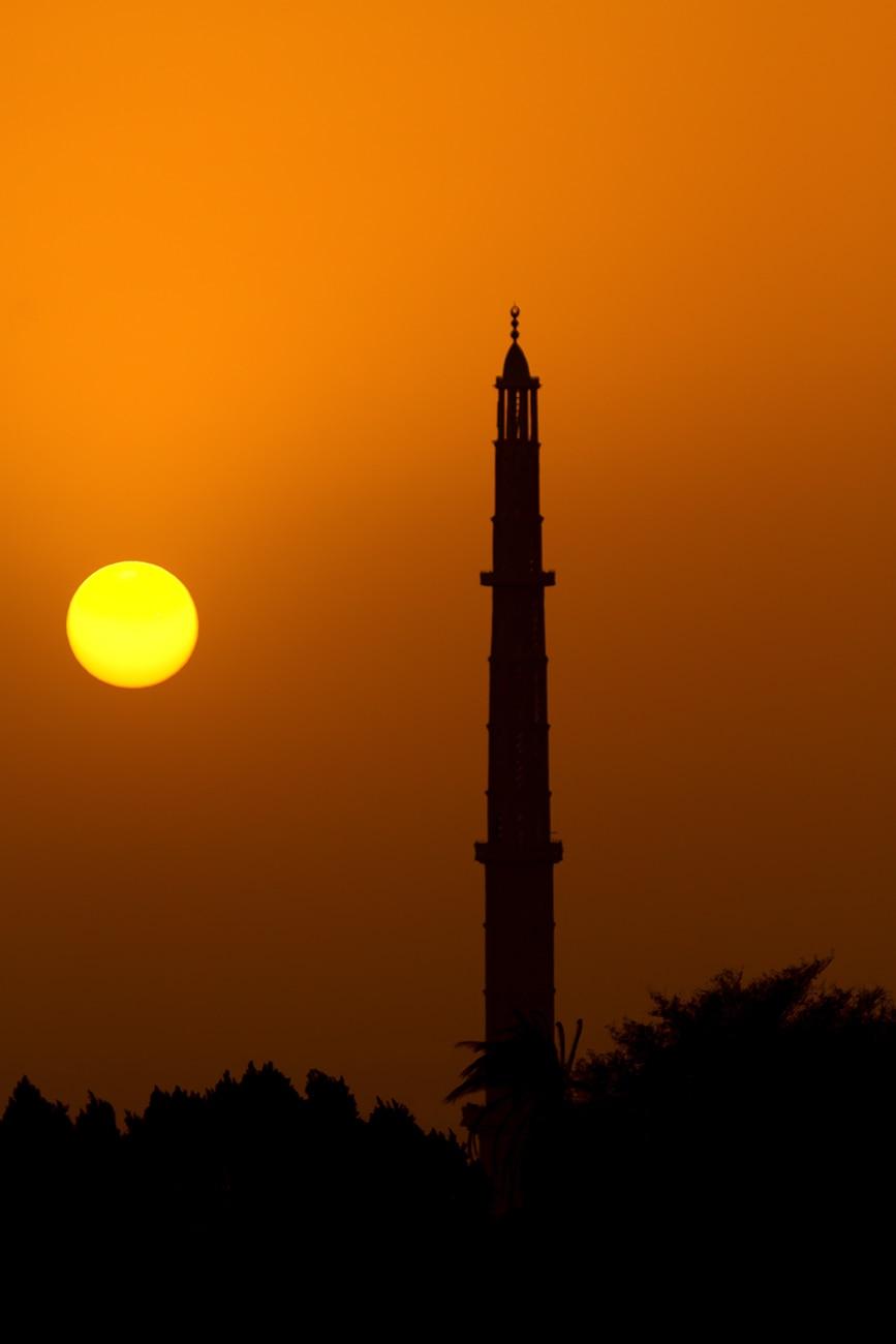Crépuscule sur le minaret